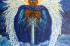 St Michael over Glastonbury Tor