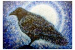 Corvus-Corax.-Acrylic-on-canvas.-50-by-70cm